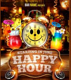 18 happy hour flyer templates free psd ai eps format