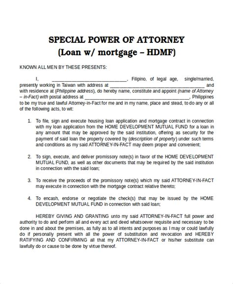 bank power of attorney template 15 power of attorney templates free sle exle