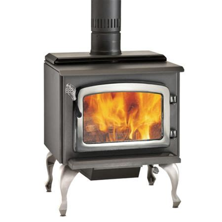 drolet escape 1800 epa wood stove nickel legs door