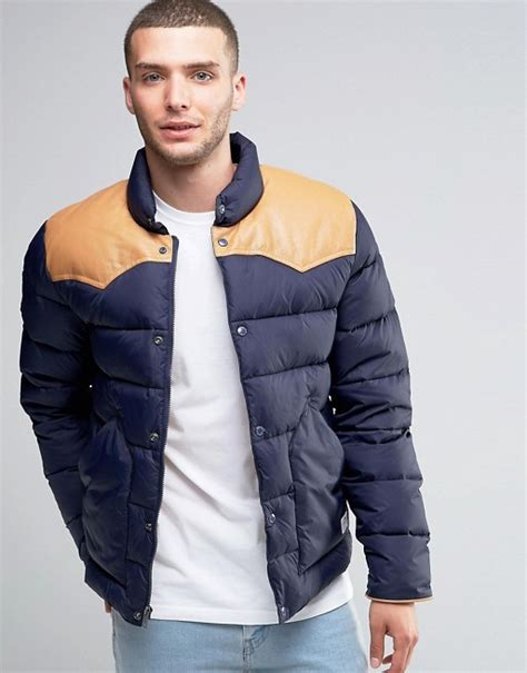 Penfield Quilted Jacket by Penfield Penfield Pelam Quilted Jacket Leather Yoke