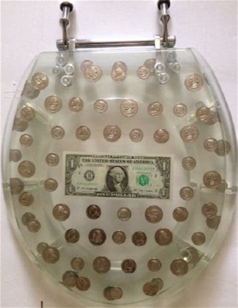 coin toilet seat silver image gallery money clear toilet seat