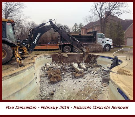 Demilatory Removal pool demolition and removal demolition removal clean up