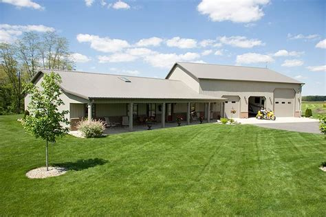 Pole Barn House Plans by Pole Barn Home With Heated Garage Lafayette Indiana