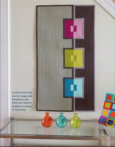 Modern Quilt Wall Hanging by Free Pattern Quilt And Wall Hangings On