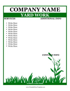 Work Flyer Template Flyer For Yard Work