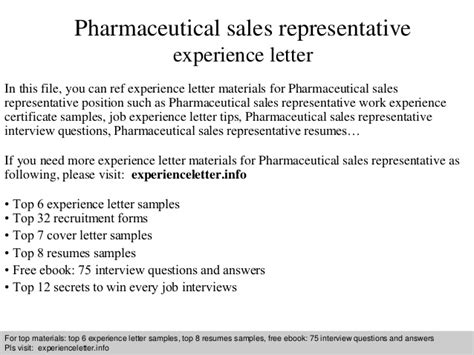 appointment letter pharma company pharmaceutical sales representative experience letter