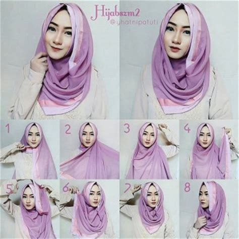 tutorial hijab pashmina yang simple untuk remaja hijab tutorial paris segi empat modern dan simple