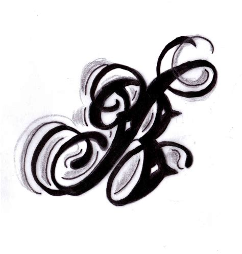 tattoo design letter butler b design