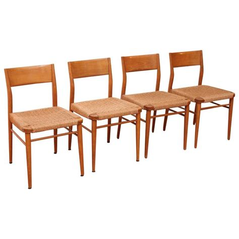 four birch dining chairs georg leowald for wilkhahn for