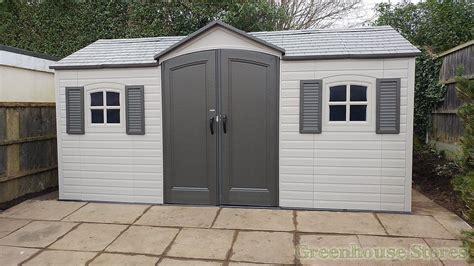 lifetime  double entrance plastic shed