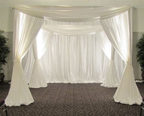 Wedding Arch Drapes by White Color Square Canopy Pipe And Drape Chuppah Arbor
