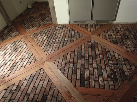 brick pavers for kitchen flooring ungrouted brick veneer