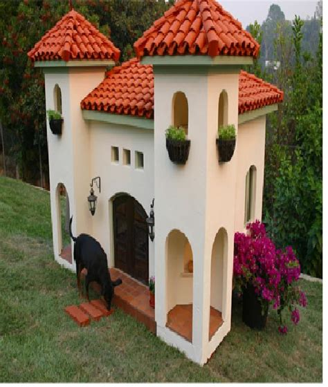 amazing dog house spanish styled dog house amazing dog houses