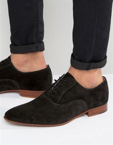 aldo oxford shoes aldo gwidol suede oxford shoes in black for lyst