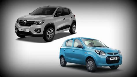 budget car comparison kwid takes on the alto