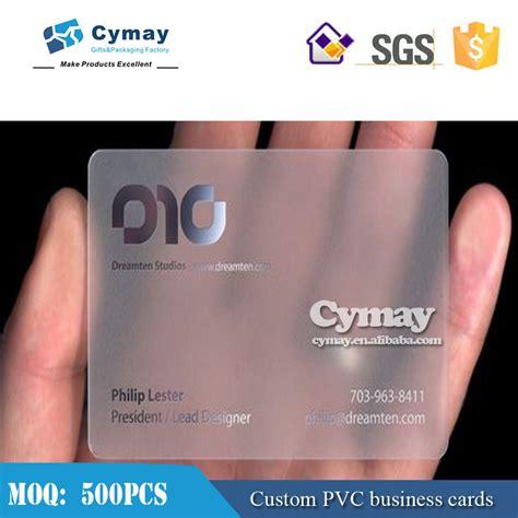 Transparent Business Cards Vistaprint
