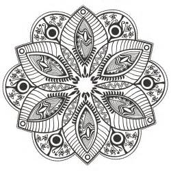 flower mandala to color by markovka mandalas with