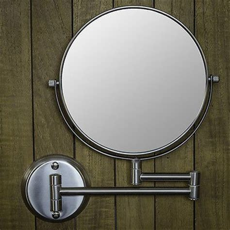 swing arm magnifying mirror details about hotel quality nickel 8 wall mount swing arm
