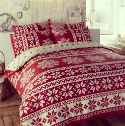 christmas bedding sets holiday design comforters winter alpine snow flake design duvet cover bed sets