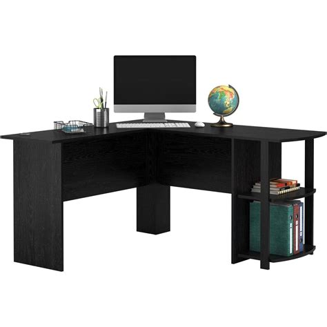 l shaped computer desk with storage l shaped computer desk with side storage shelf laptop home