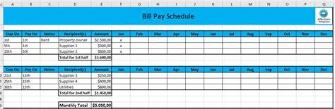 Rent Schedule Template Excel