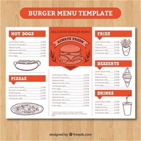 burger menu template menu vectors photos and psd files free