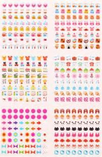 Calendar Stickers Kawaii Calendar Stickers Animals Hearts Food