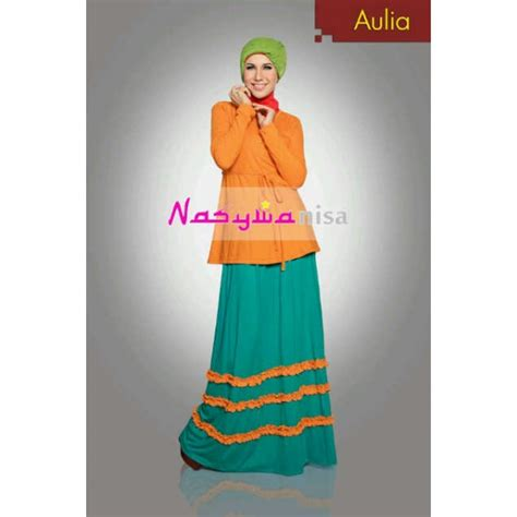 New Gamis Oki Rayon Fanta aulia kuning baju muslim gamis modern