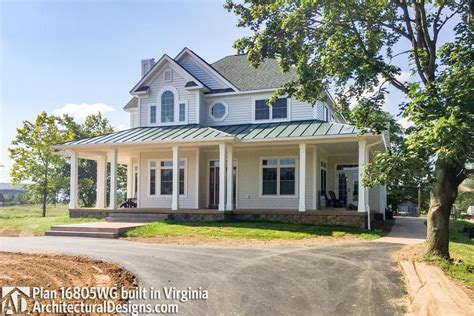 bloombety country large farmhouse plans large farmhouse country farmhouse with wraparound porch 16805wg