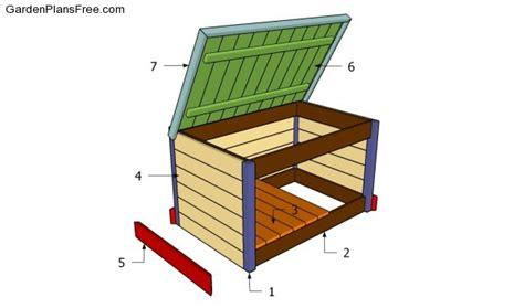 Patio Storage Box Plans by Building Plans For A Deck Storage Box