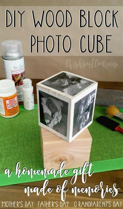 diy wood block photo cube  homemade gift  memories