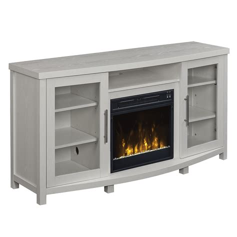 white fireplace tv stand rossville tv stand for tvs up to 65 quot with 18 quot electric