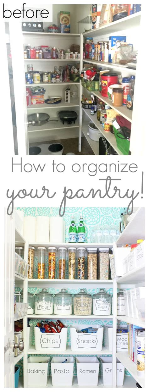 How to Organize your Pantry and a Pretty Pantry Makeover
