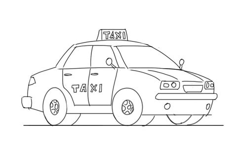 taxi 17 transportation printable coloring pages