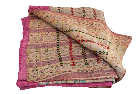 Kantha Quilt by Vintage Kantha Quilt Pink Omero Home