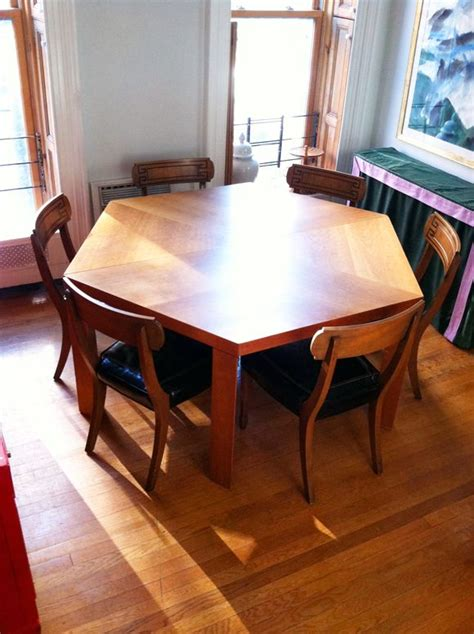 hexagonal dining table and chairs best 25 octagon table ideas on diy 70s