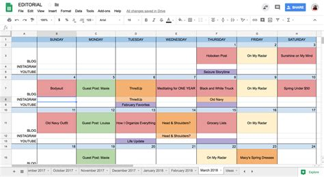How I Organize Everything Carly The Prepster Editorial Calendar Template 2018