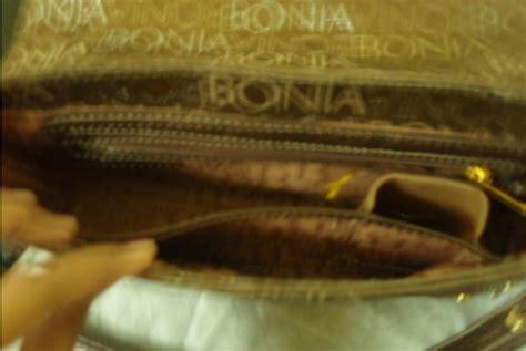 Authentic Bonia Preloved nia shop bonia handbag gold colour