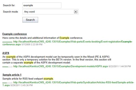 Smart Pages Lookup Adding Search Functionality To Pages Kentico 10 Documentation