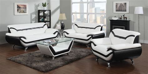 white leather sofa set black and white leather sofa set