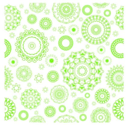 flower pattern green green circle flower pattern free vectors ui download