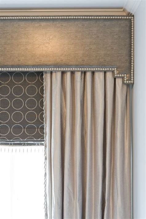 curtain trim ideas a great tailored cornice board with nailhead trim drapery