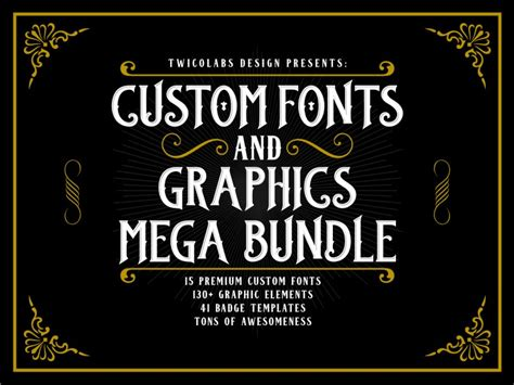 Custom Font Nameset Sevilla 2014 15 custom fonts and graphics mega bundle by twicolabs on