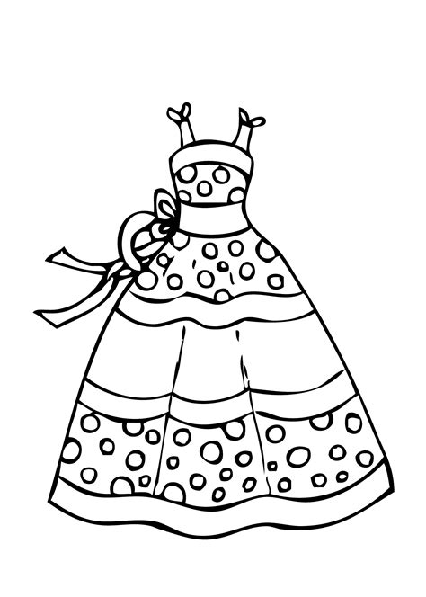 coloring pages dresses printables dress coloring pages to and print for free
