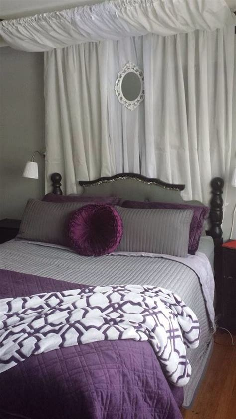 grey purple black and white master bedroom wall ls - Bedroom Grey And Purple
