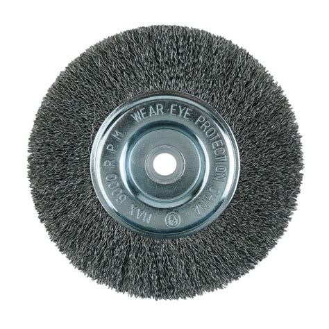 bench grinder wire wheel uses lincoln electric 8 in crimped wire wheel brush kh322