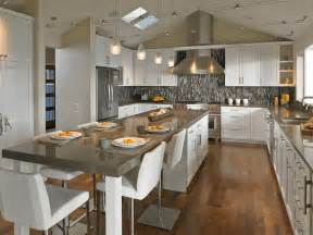Long Kitchen Islands 20 Beautiful Kitchen Islands With Seating Long Kitchen