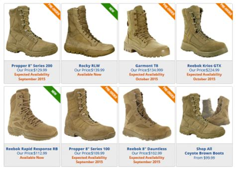tacticalgear.com ar 670 1 compliant boots available for