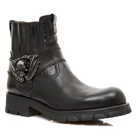 motorcycle ankle boots m 7633 s1 black rock motorcycle ankle boot