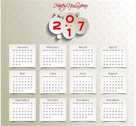 adobe illustrator calendar template calendar 2017 templates paper stick note free vector in